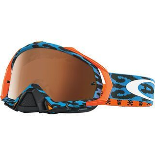 Oakley Mayhem Pro MX, cheetah blue/Lens: black iridium - MX Brille