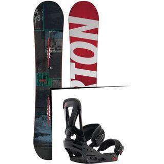 Set: Burton Process 2015 + Burton Custom 2016, Black/Red - Snowboardset