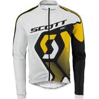 Scott Shirt RC Pro l/sl, white/yellow rc - Radtrikot