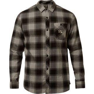 Fox Longview LTWT Flannel, heather graphite - Hemd