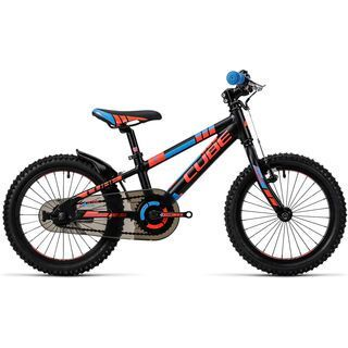 Cube Kid 160 2016, black´n´flashred´n´blue - Kinderfahrrad