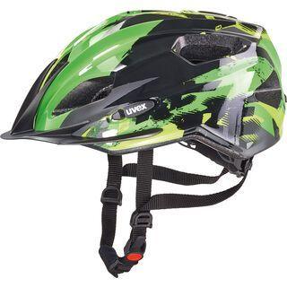 uvex Quatro Junior, black-green - Fahrradhelm