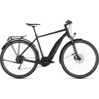 Cube Touring Hybrid ONE 400 2019, black´n´blue - E-Bike