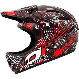 ONeal Backflip Fidlock DH Kids Helmet Biohazard, black/red - Fahrradhelm