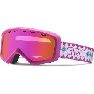 Giro Charm, white berry beaded/Lens: amber pink - Skibrille