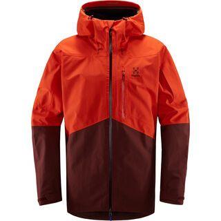 Haglöfs Nengal Jacket Men, habanero/maroon red - Skijacke