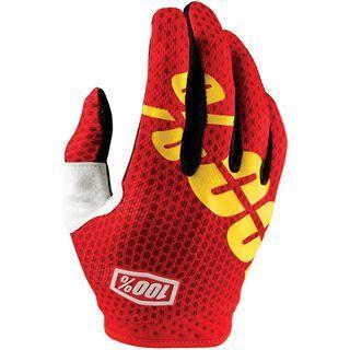 100% iTrack Glove, fire red II - Fahrradhandschuhe