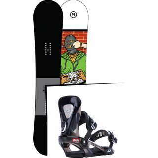 Set: Ride Crook 2017 + Ride KX 2015, black - Snowboardset