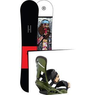 Set: Ride Crook Wide 2017 + Burton Mission 2017, track day green - Snowboardset