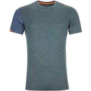 Ortovox 185 Merino Rock'n'Wool Short Sleeve M, green forest blend - Unterhemd