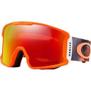 Oakley Line Miner Prizm, neon orange/Lens: prizm snow torch iridium - Skibrille