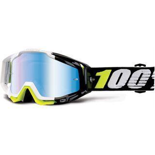 100% Racecraft inkl. WS, emara/Lens: mirror blue - MX Brille