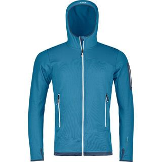 Ortovox Merino Fleece Light Hoody M, blue sea - Fleecejacke