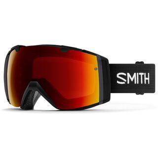 Smith I/O inkl. Wechselscheibe, black/Lens: sun red mirror chromapop - Skibrille