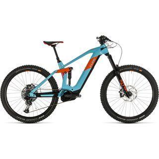 Cube Stereo Hybrid 160 HPC SL 27.5 2020, glacierblue´n´orange - E-Bike