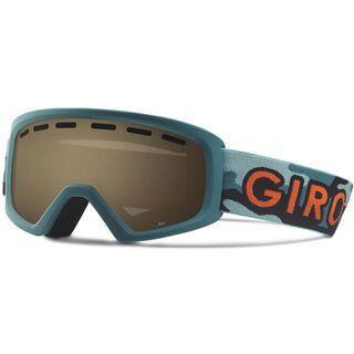 Giro Rev, green hideout/Lens: amber rose - Skibrille