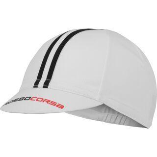 Castelli Rosso Corsa Cycling Cap, white/black - Radmütze