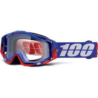 100% Racecraft Goggle, republic/ Lens: clear - MX Brille