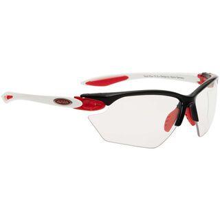 Alpina Twist Four S VL+, white pink silver/Lens: varioflex black - Sportbrille