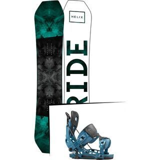 Set: Ride Helix 2017 + Flow NX2 2016, blue - Snowboardset