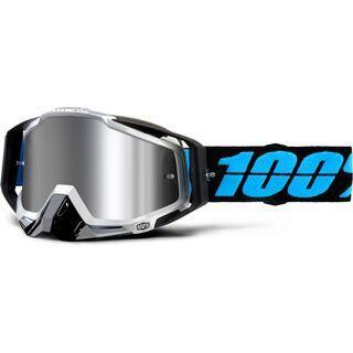 100% Racecraft Plus, daffed/Lens: silver flash mirror - MX Brille