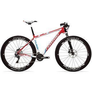 *** 2. Wahl *** Cannondale F29 Carbon 1 2013, magnesium white w/ race red and ultra blue accents gloss - Mountainbike | Rahmenhöhe XL // 52,5 cm