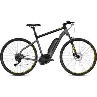 Ghost Hybride Square Cross B2.9 AL 2018, gray/black/neon yellow - E-Bike