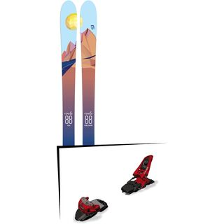 Set: Icelantic Oracle 88 2018 + Marker Squire 11 red