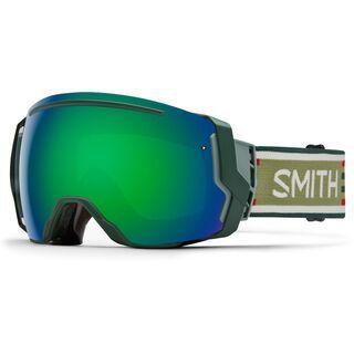 Smith I/O 7 inkl. Wechselscheibe, woolrich/Lens: green sol-x mirror - Skibrille