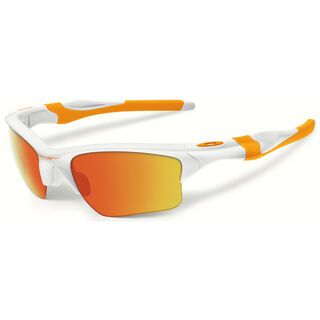 Oakley Half Jacket 2.0 XL Fingerprint, polished white/Lens: fire iridium - Sportbrille