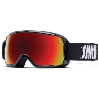 Smith Grom, black/red sol-x mirror - Skibrille