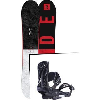 Set: Ride Machete GT 2017 + Ride Capo 2017, black - Snowboardset