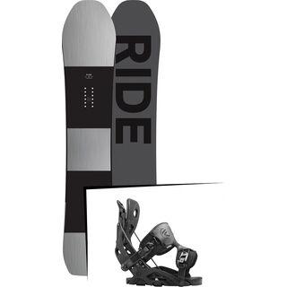 Set: Ride Timeless 2017 + Flow Fuse 2016, black - Snowboardset