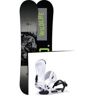 Set: Ride Wild Life Wide 2017 + Ride Revolt 2017, white - Snowboardset
