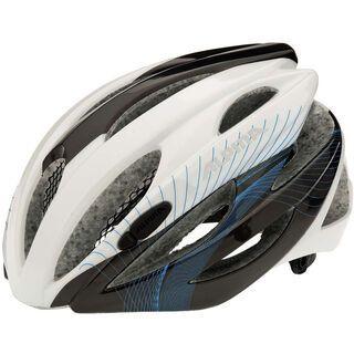 Alpina Cybric, white-anthracite-cyan - Fahrradhelm