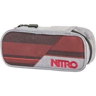 Nitro Pencil Case, red stripes