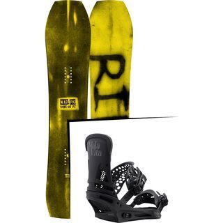 Set: Ride Warpig Small 2017 + Burton Malavita 2017, black - Snowboardset