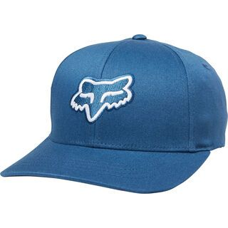 Fox Youth Legacy Flexfit Hat, destroyed blue - Cap