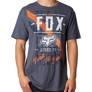 Fox Dunkel SS Tee, heather navy - T-Shirt