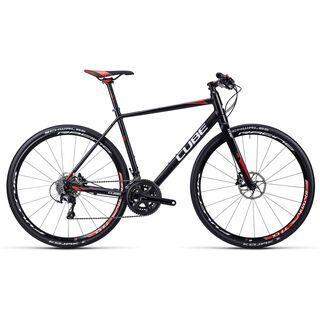 Cube SL Road Race 2015, black white red - Fitnessbike