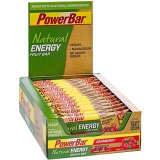 PowerBar Natural Energy Fruit Bar (Vegan) - Cranberry (Box) - Energieriegel