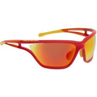 Alpina Alpina Eye-5 CM+, red-orange-yellow/red mirror - Sportbrille