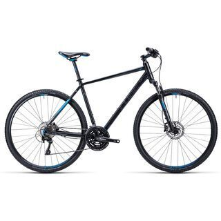 Cube Nature Pro 2015, black anthrazit blue - Fitnessbike