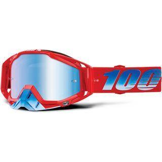 100% Racecraft, kuriakin/Lens: mir blue - MX Brille
