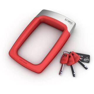 Knog Strongman Bügelschloss mit Halter, rot - Fahrradschloss