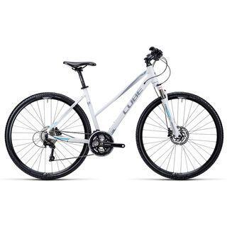 Cube Cross Trapeze 2015, white silver iceblue - Fitnessbike