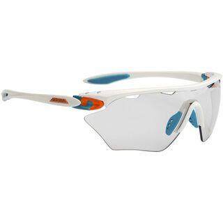 Alpina Twist Four Shield VL+, white-cyan-orange/Varioflex black - Sportbrille