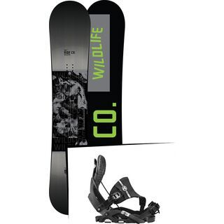 Set: Ride Wild Life 2017 + Flow Nexus Hybrid 2017, black - Snowboardset