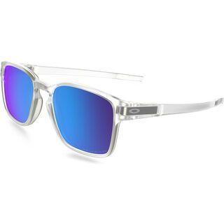 Oakley Latch Square Polarized, clear/Lens: sapphire iridium - Sonnenbrille