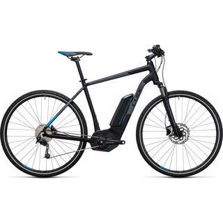 Cube Cross Hybrid Pro 500 2017, black´n´blue - E-Bike